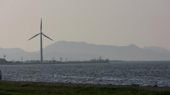 Nakaumi Sea and wind farm.