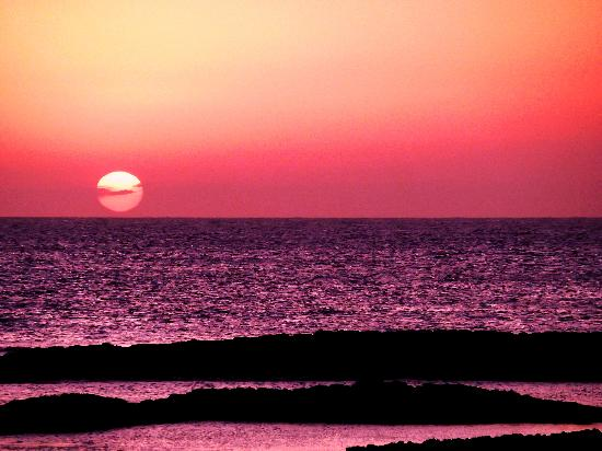 Hotel Cotillo Beach: Lagoons sunset