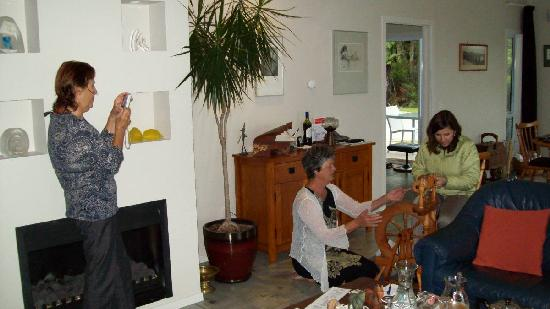 Within The Bays: Annemarie teaching us to spin...