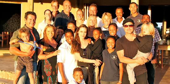 N/a'an ku se Lodge and Wildlife Sanctuary: Brad Pitt and Angelina Jolie visiting and supporting N/a'an ku se