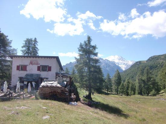Restaurant Moosalp : Restaurant mit Panorama