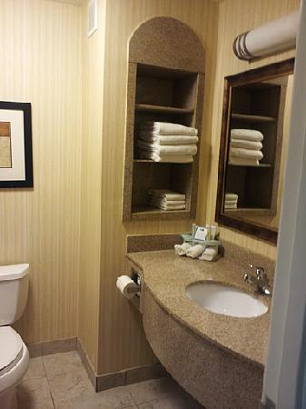 Holiday Inn Express Hotel & Suites Pryor: Granite finish bathroom