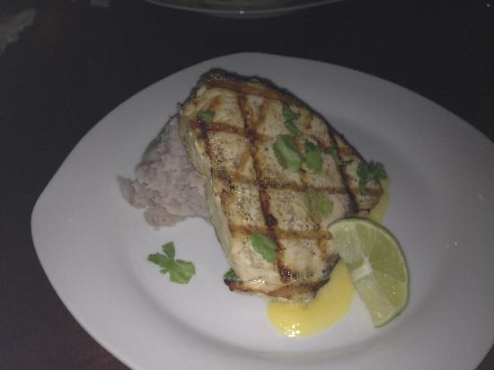 Ay Bonito! Grill: Swordfish over risotto or malanga