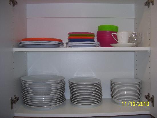 Jaco Bay Resort Condominium: Dishware - porcelin, plastic and acrylic for outdoor use