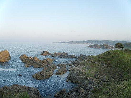 Hachinohe, Japan: 葦毛崎展望台から種差海岸方面を望む