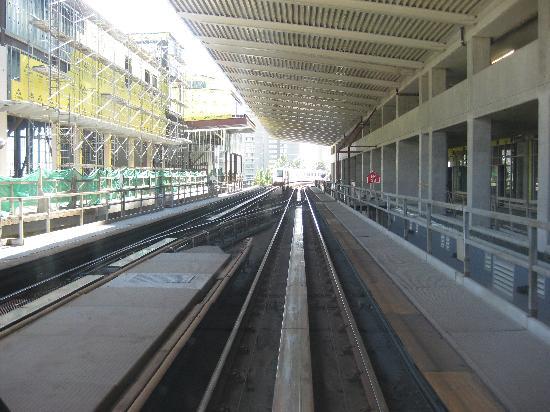 SkyTrain : Sky train station under construction.