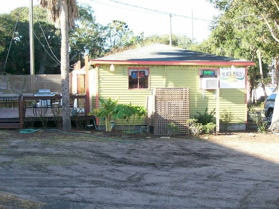Black magic cafe from Centre Street, Folly Beach
