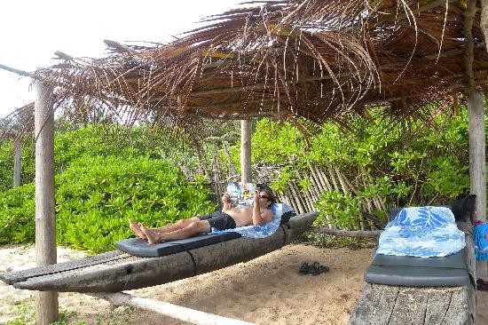 Mangrove Garden Beach Cabanas: Rustic Beach Chairs At The Chalets