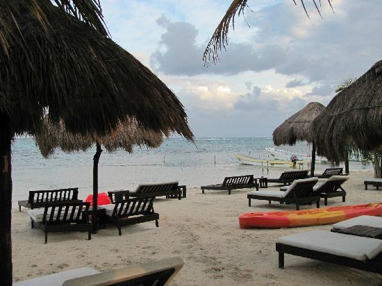 Luna de Plata · Hotel: comfy beach loungers
