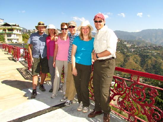 Aapo Aap Home Stay: on the vast terrace with a valley in the background