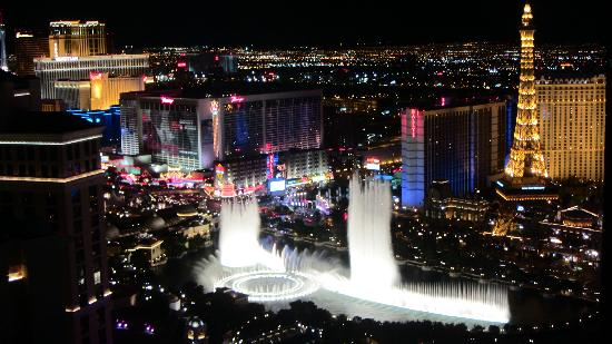 View over the bellagio lake picture of vdara hotel amp spa las vegas
