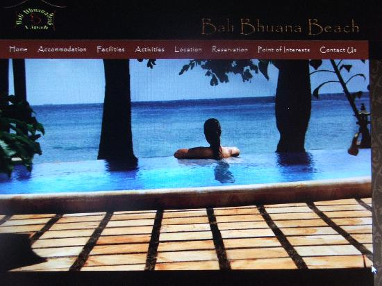 Bali Bhuana Beach Cottages: sweet blue memory