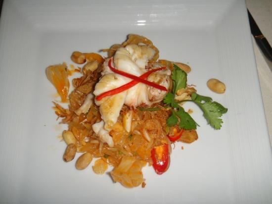 Rock Fish: salade pomelos et langouste