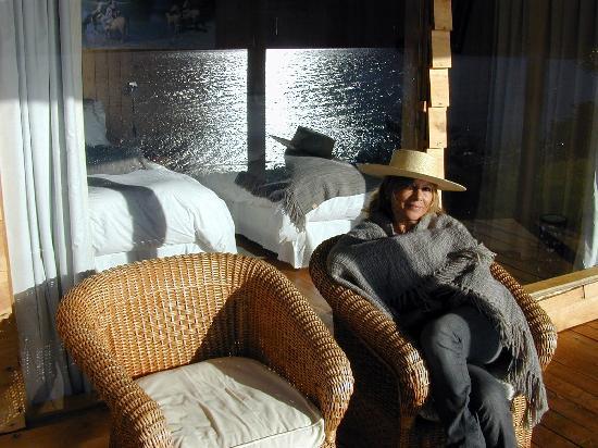 Puerto Guadal, Chile: Puesta de sol en la cabaña