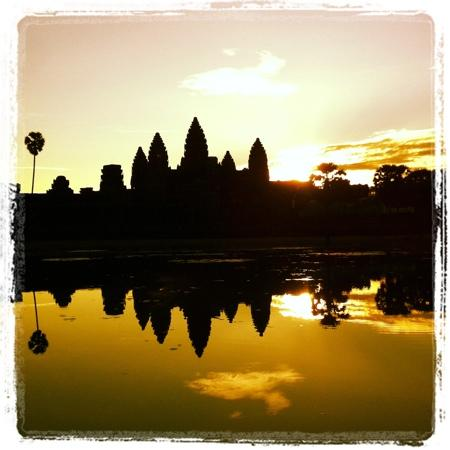 Siem Reap, Kambodża: Sunrise at Angkor Wat