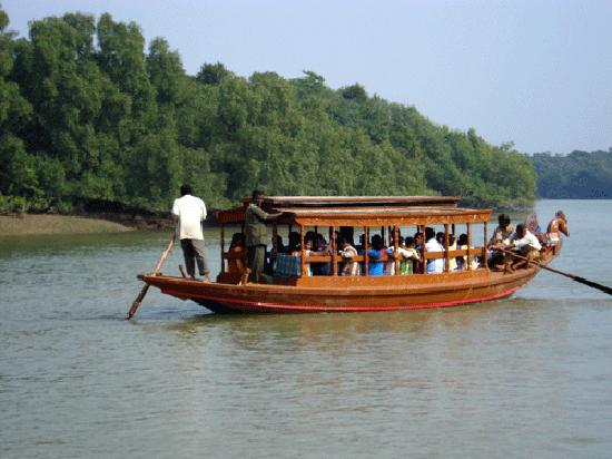 Boating at Bhitarkanika National Park, Orissa, India
