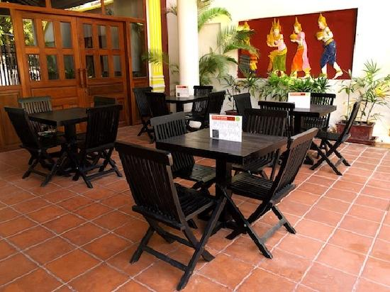 Siem Reap Rooms Guesthouse: Restaurant area