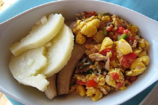 Пляж Сокровищ, Ямайка: Saltfish and Ackee