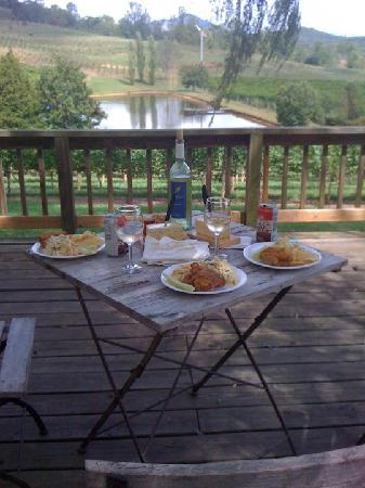 Crane Creek Vineyards: Lunch overlooking the vineyards