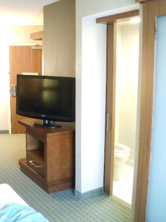 SpringHill Suites Long Island Brookhaven: TV from bed area