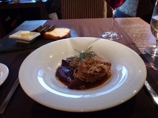 Restaurant  MEKK: Duck fillet with honey roasted beetroot