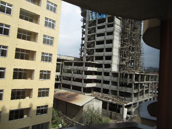 Hotel Intercontinental-Addis: view from balcony