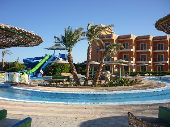 """The Three Corners Sunny Beach Resort: Water slide and the """"river"""" to the kids pool"""