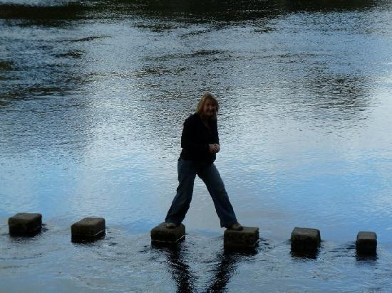 Bolton Abbey, UK: Stepping Stones near Abbey