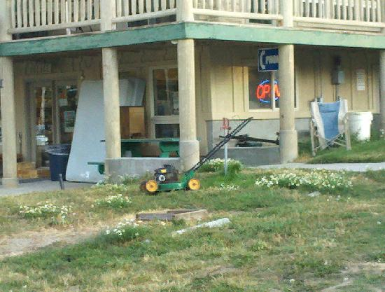 Jared's Wild Rose Resort : Squalor in front of the resort office