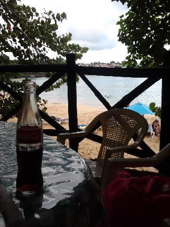 Scandinavian Beach Bar & Restaurant: Vista desde una de las mesas