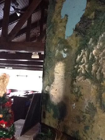 Turangi Bridge Motel: The map in the dining room.