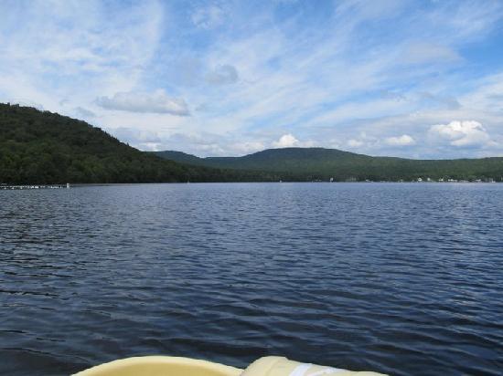 Auberge Duchesnay: vue sur le Lac en pédalo