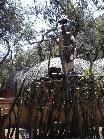 aha Lesedi Cultural Village: Entrance to Zulu Tribe