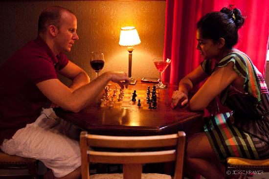 Alexander Bar, Café & Theatre : Guests playing chess