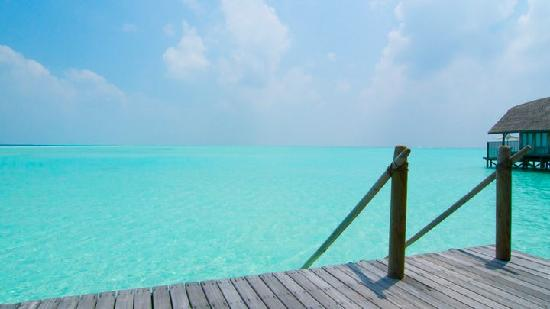 Cocoa Island by COMO: Absolutely stunning views from our deck