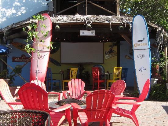LeLu Coffee Lounge: patio even has movies on some nights!