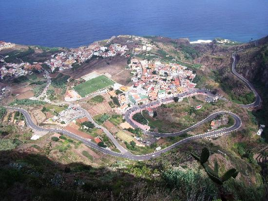 Vallehermoso, España: Hill path above Agulo (F1 track !?)