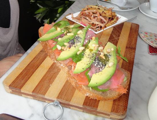 Table Thirteen : Salmon on Rye Bread with Wasabi Mayo & Avo