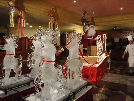 Hotel Riu Palace Mexico : Christmas Eve dinner