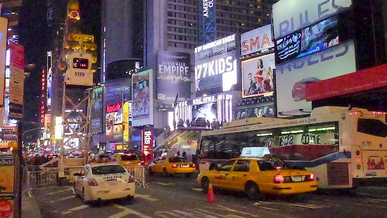 Duffy Square: View of Broadway from Duffy Platform