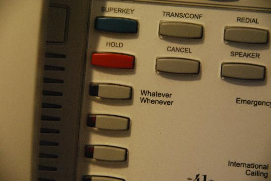 Hotel 41: whatever, whenever button on the phone