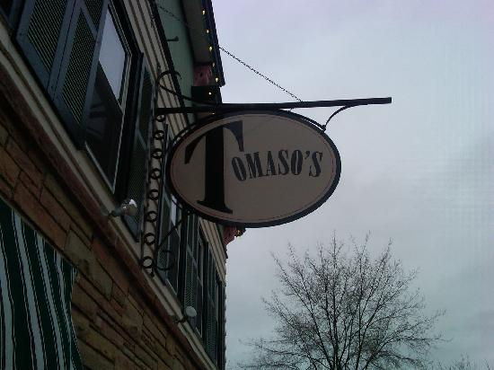 Tomaso's outside sign