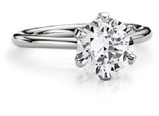 Jangmi Jewelry: Solitaire Engagement Ring in Platinum