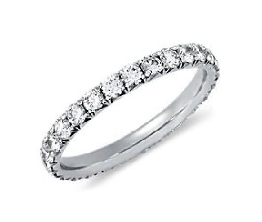 Jangmi Jewelry Diamond Wedding Band Ring In Platinum