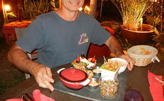 El Cafecito: servi sur ardoise,déco sympa,sa donne le sourire ;)