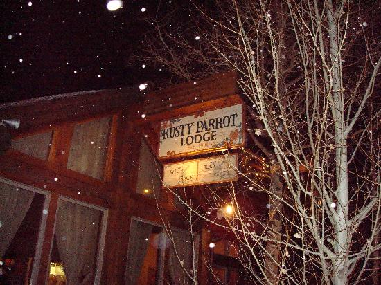 Rusty Parrot Lodge and Spa: Outside sign