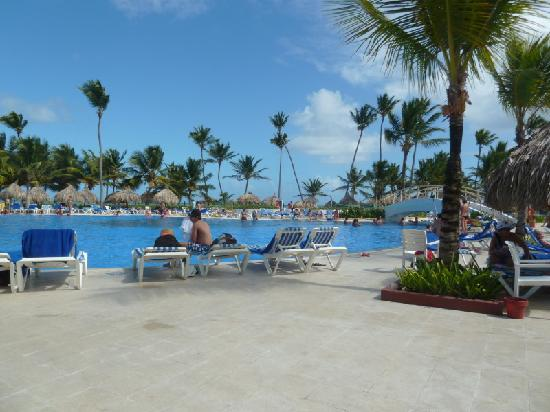Grand Bahia Principe Punta Cana: 1/3 of the pool by the beach. It is huge.