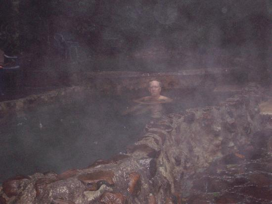 Termales del Bosque: Relaxing in one of the springs