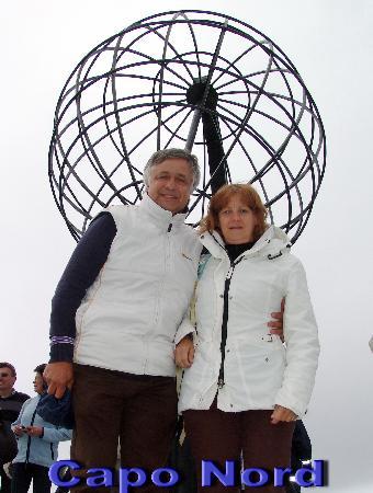 Nordkapp Municipality, นอร์เวย์: Lauretta e Celestino a Capo Nord