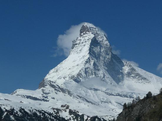 Mt. Gornergrat: The Matterhorn from Zermatt.